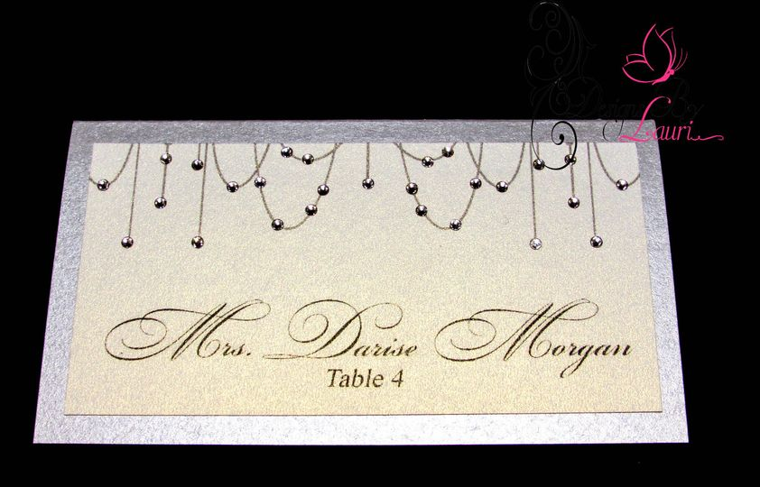 chandelier place card