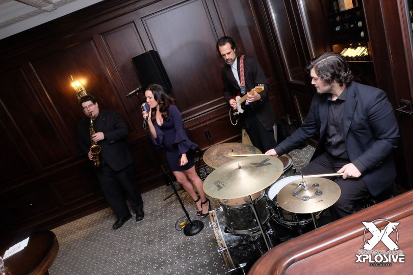 Jazz Trio with Sax during cocktail.
