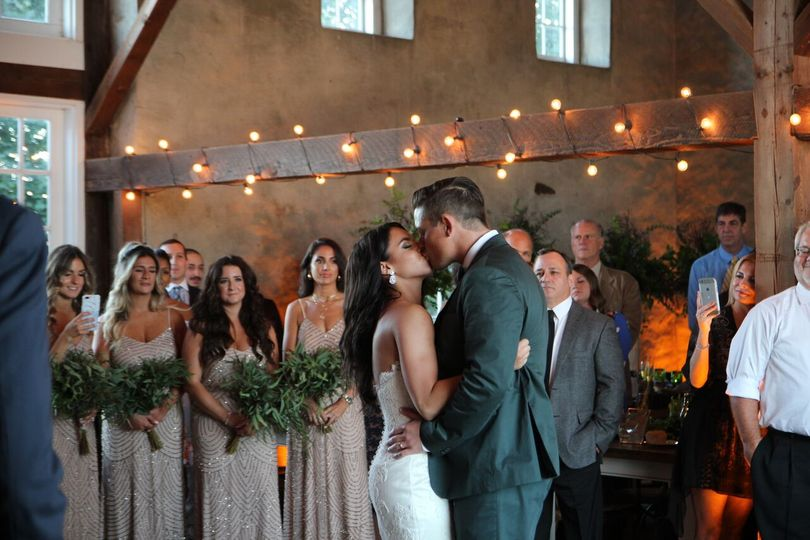 A barn inspired ceremony.