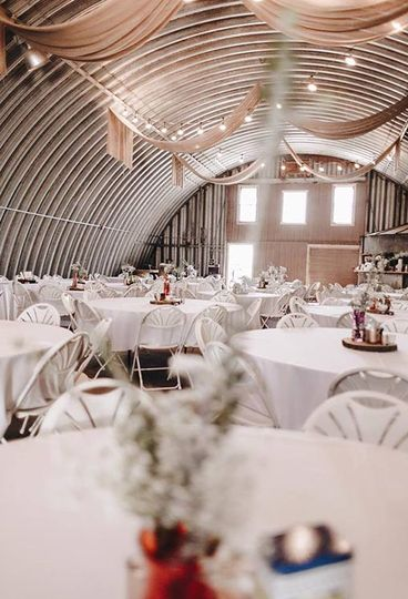 Rustic and refined reception setup