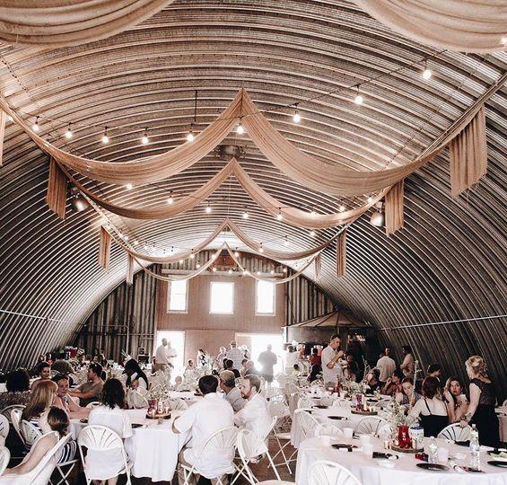 Rustic reception in Nebraska