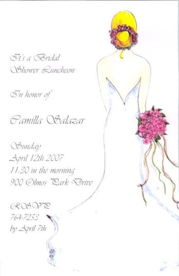 This invitation is perfect for a bridal luncheon.