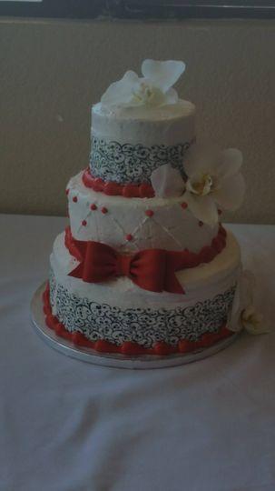 Multiple layered wedidng cake