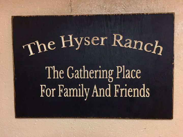 Personalized Name plaque with a 2 line message.