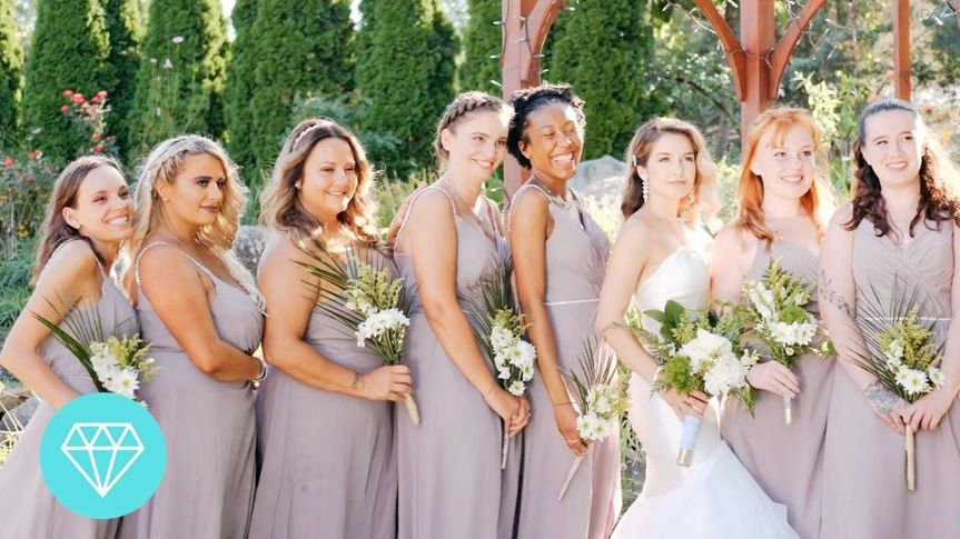 Michelle and her Bridesmaids