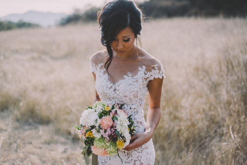 Bride in the fields