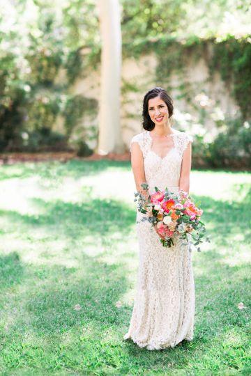 Bride in her attire