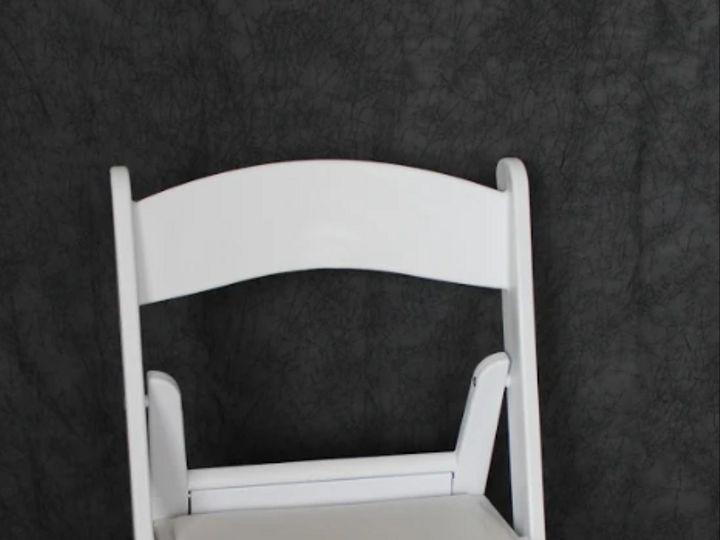 Tmx White Folding Chair 51 1054775 Groveland, FL wedding rental