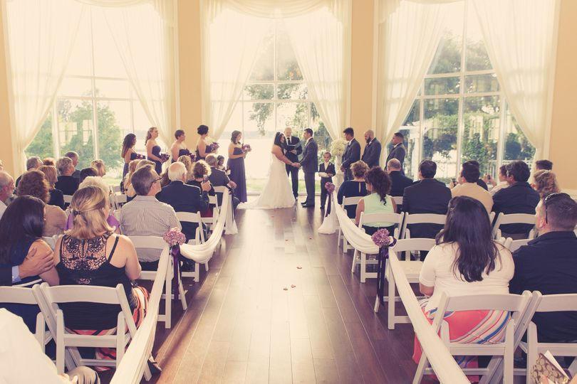 An indoor ceremony
