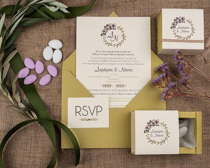 Romantic flower & olive theme