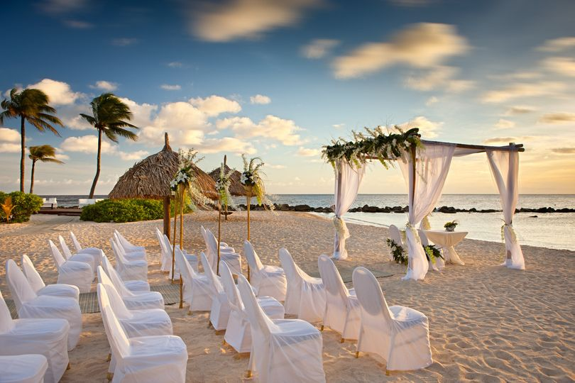 Beach Ceremony in White