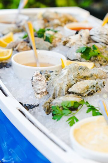 Fresh oysters Flown in everyday