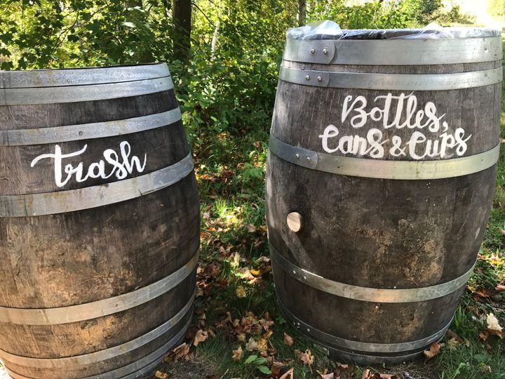 Waste segregation barrels