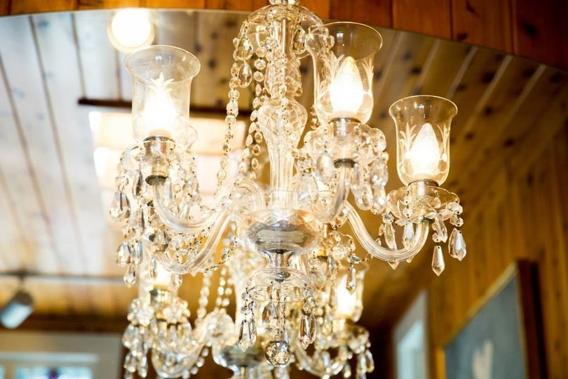Beautiful Chandelier that hangs over the Vanity  the Bridal Suite
