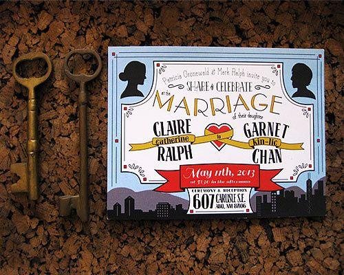 Love Bird Invites Americana Wedding Invitations