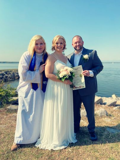 With Bride & Groom