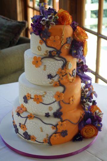 Time Travel Themed Wedding Cake