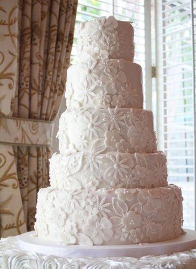 White Floral Applique Cake