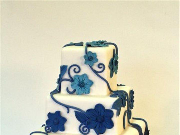 Tmx 1293206935953 Blueflowers Moorpark wedding cake