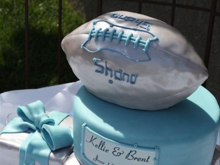 Tmx 1303684753716 Cakebluefootball Moorpark wedding cake