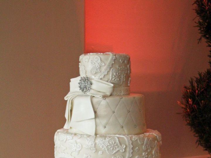 Tmx 1349718957630 AppliqueBowCake Moorpark wedding cake