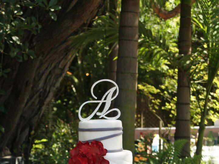 Tmx 1375140236987 Red Petal Cake Moorpark wedding cake