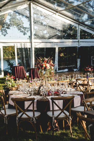 Backyard Tent Wedding. Photo by Janelle Elise Photography