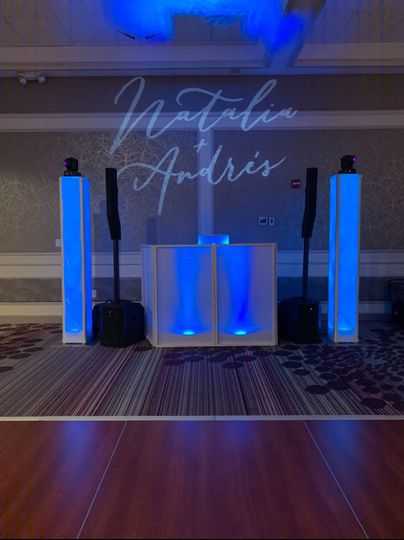 DJ Setup with Monogram