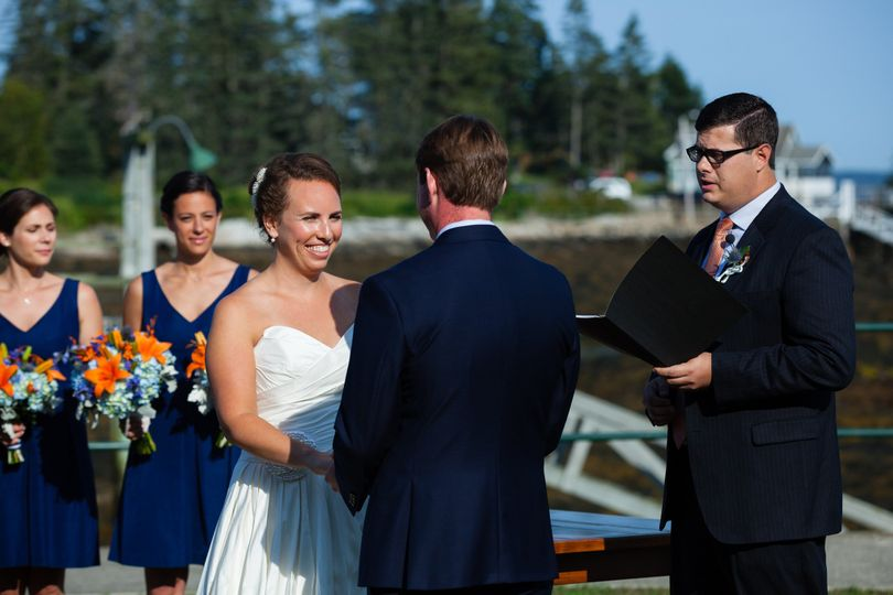 Officiating the marriage. Photo by Kate Crabtree Photography.