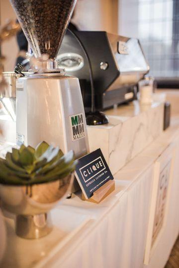 Elegant coffee bar
