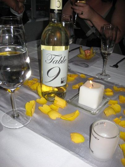 wine table number