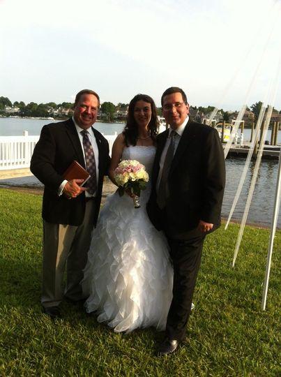 Wedding by a lake
