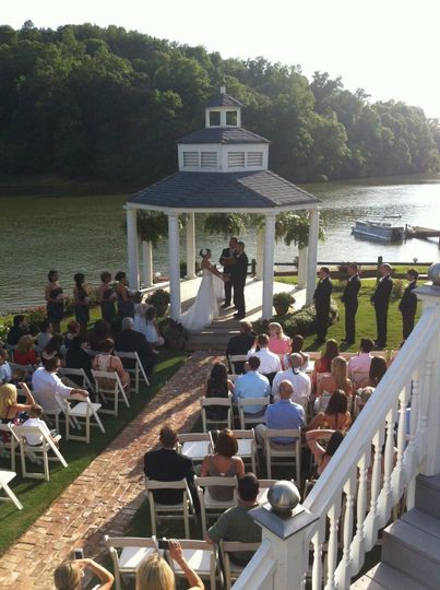 Wedding by a river