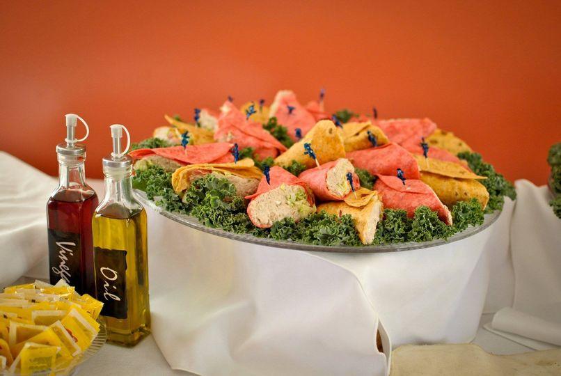 Tuna Salad Wrapped in Sun-Dried Tomatoes & Yellow Squash Tortillas