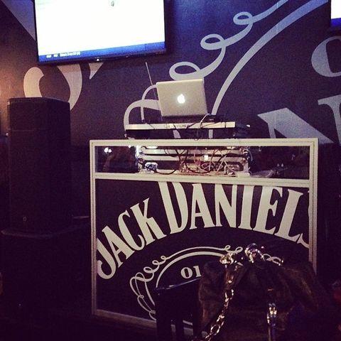 Jack Daniels event setup