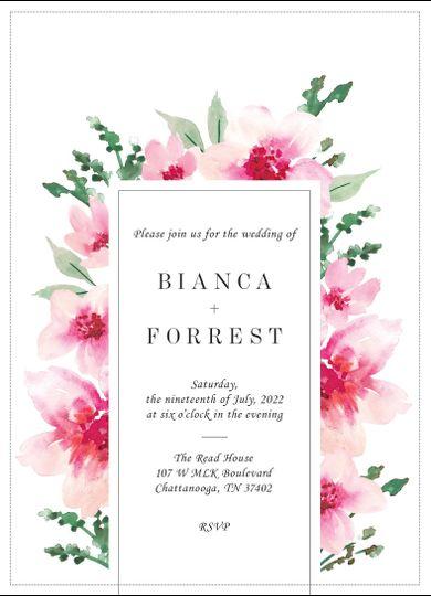 Modern floral invitation
