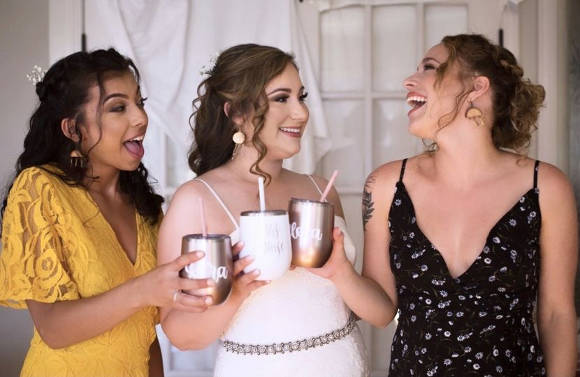Smokey glam bridal makeup