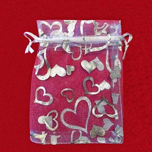 heart print bags