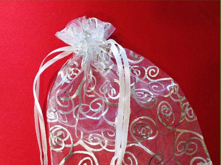 Tmx 1432872389554 White Silver Small Organza Bags Staten Island wedding favor