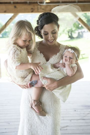 The bride and babies