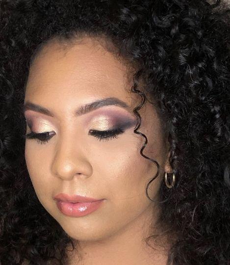 Bridal purple glam