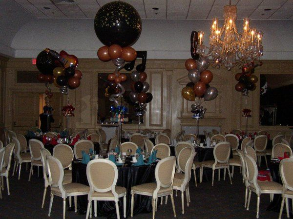 Reception tables and decor