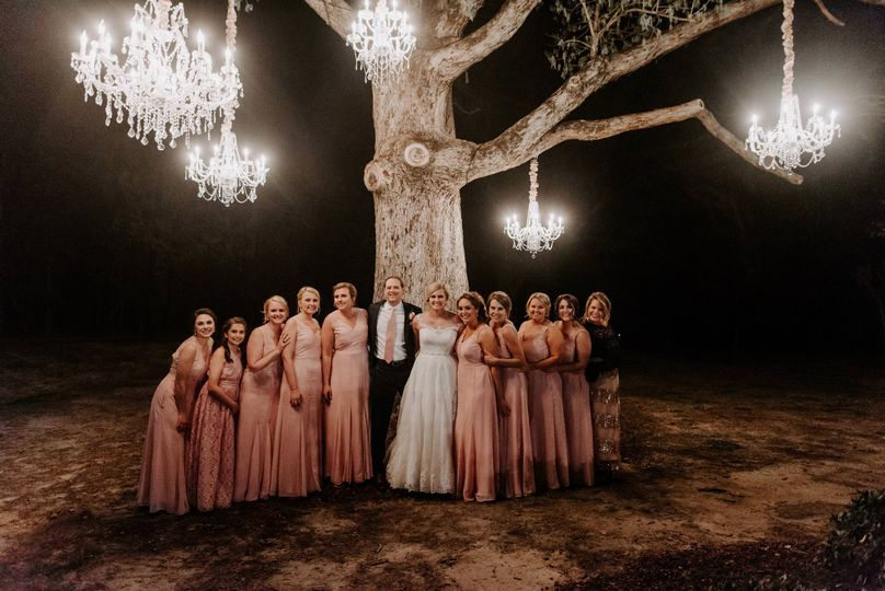 Chandeliers in  Oak Tree