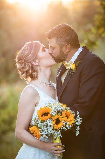 Sunflowers & sunset