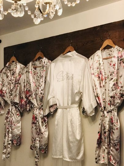 Robes of the bridal party