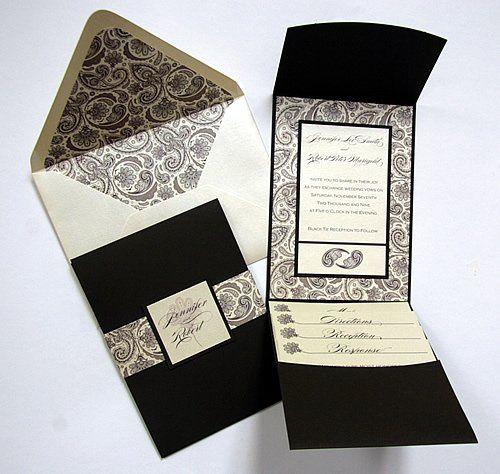 Tmx 1310059672148 Pocketfoldpaisleycoffee Denver wedding invitation