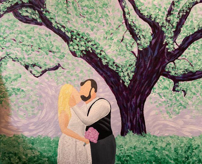 Wedding painting, Savannah GA
