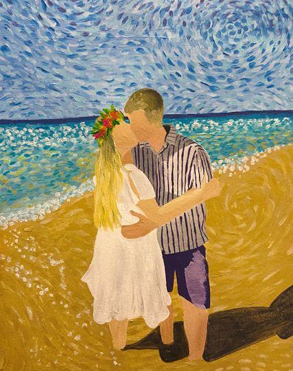 Wedding portrait, Hawaii