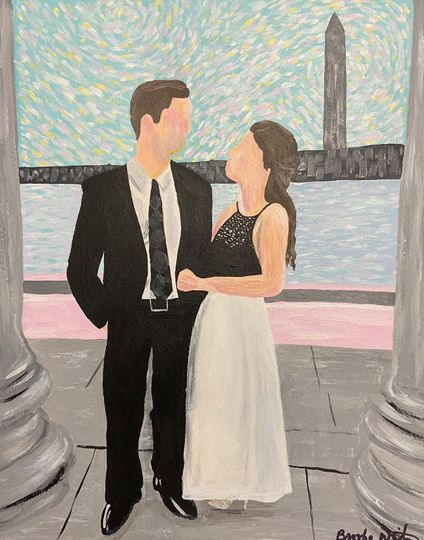 Wedding painting, Wash. DC