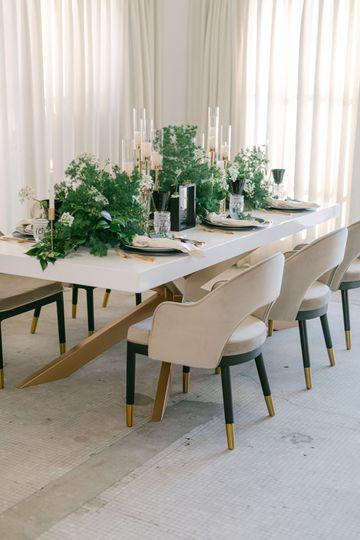 Table Setup & Deep Green